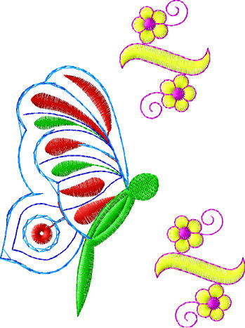 embroidery butterfly designs