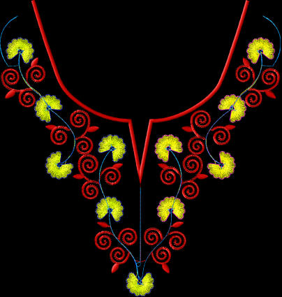 embroidery collar designs