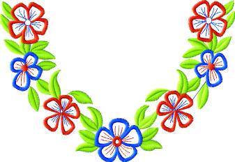 embroidery neckline designs